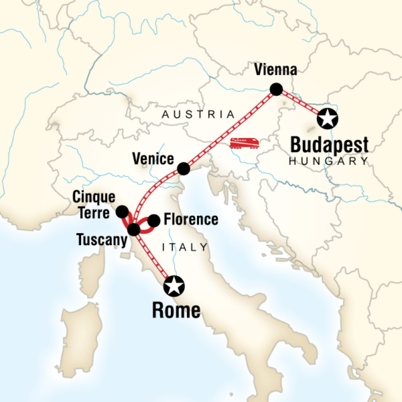 Itinerary - Rome to Budapest on a Shoestring in Italy, Europe - G ...