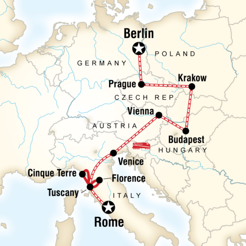 Itinerary - Rome to Berlin on a Shoestring in Italy, Europe - G ...