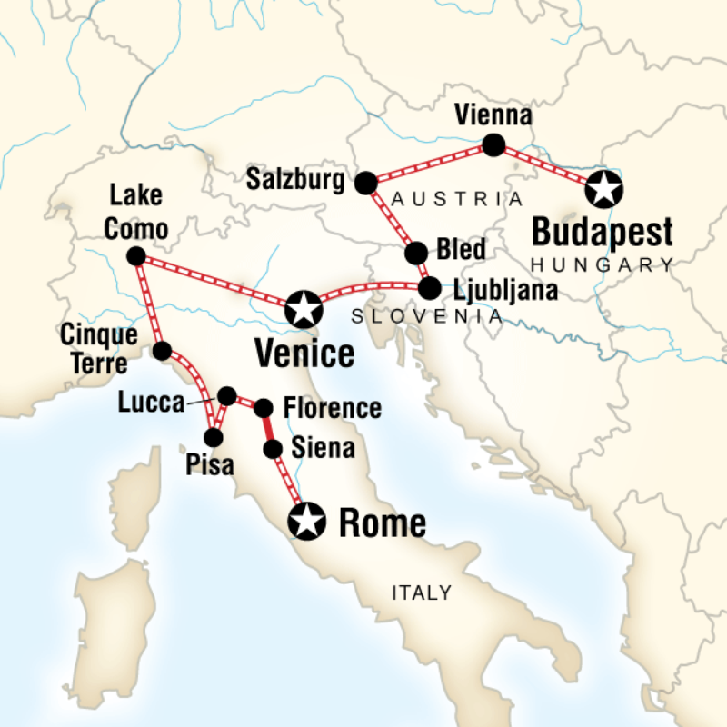 Itinerary - Rome to Budapest Explorer in Italy, Europe - G Adventures