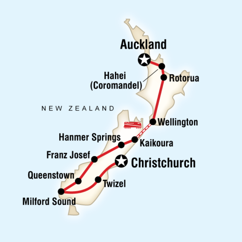 Map of the route for