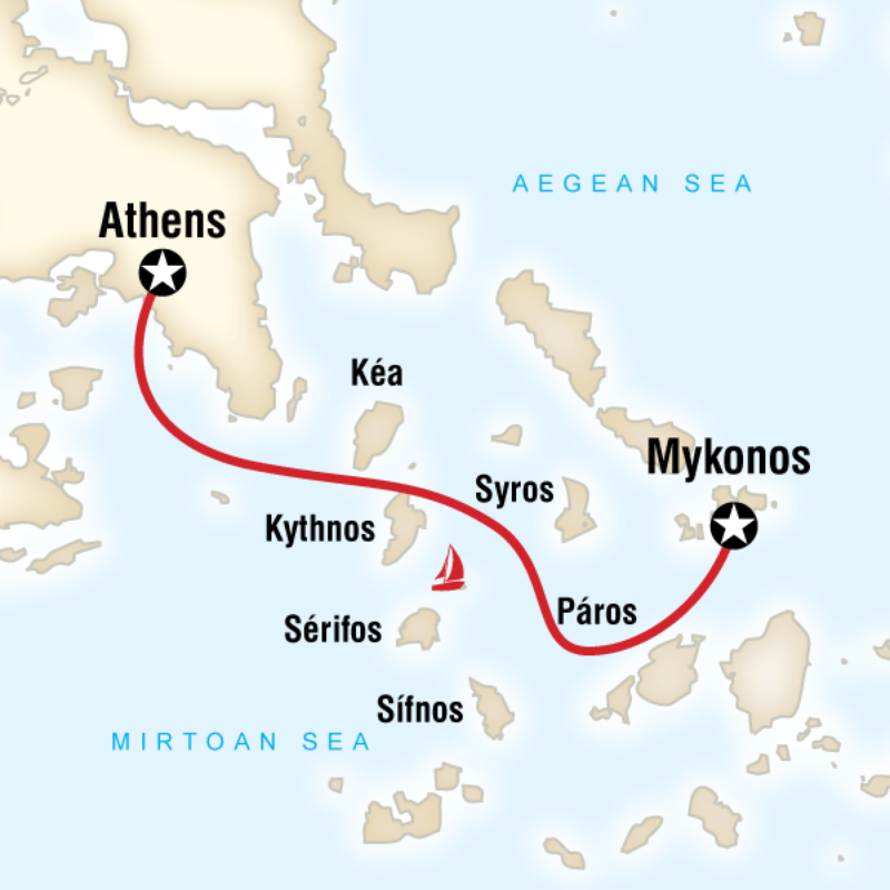 Sailing Greece Mykonos To Athens In Greece Europe G Adventures