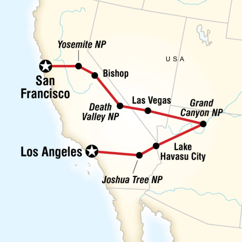 San Francisco To Los Angeles Express In United States