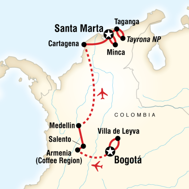Itinerary Classic Colombia In Colombia South America