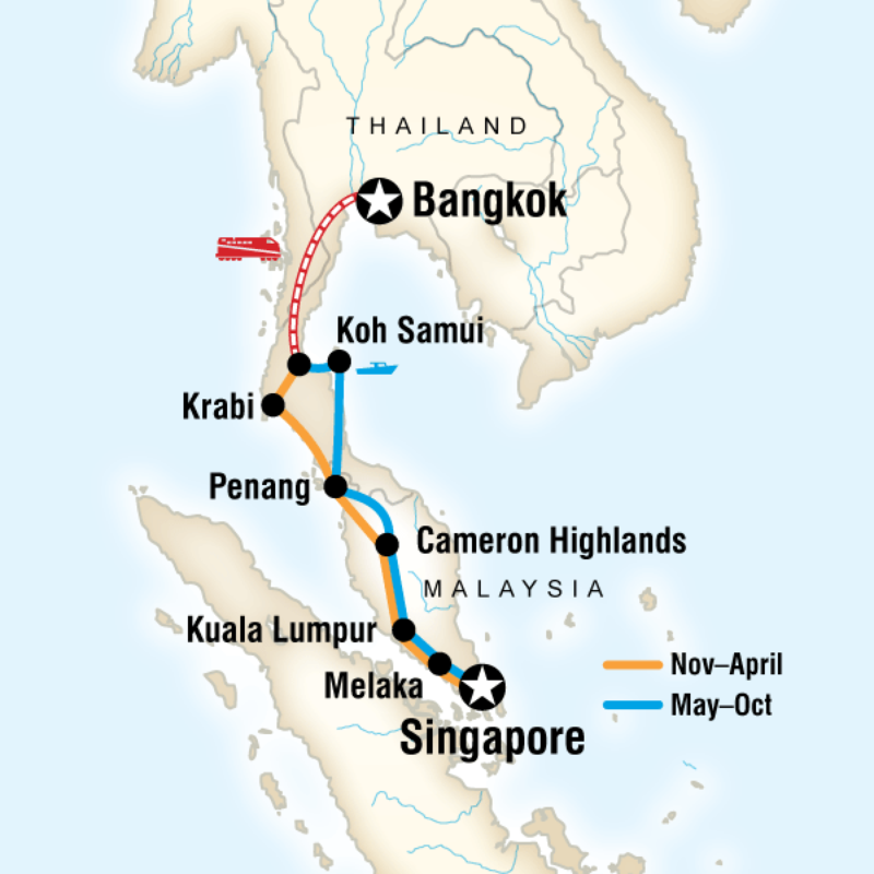 Bangkok To Singapore On A Shoestring In Malaysia Asia G