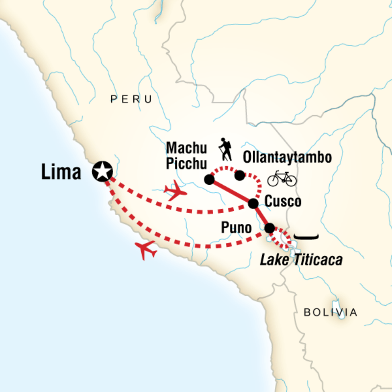 Itinerary - Peru Multisport in Peru, South America - G ...