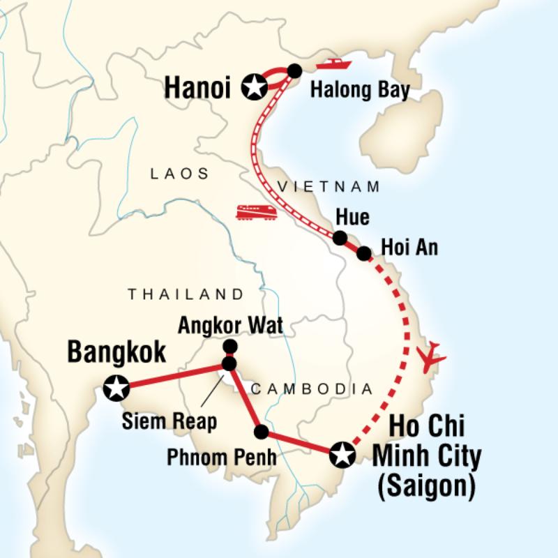 travel thailand cambodia vietnam tour itinerary