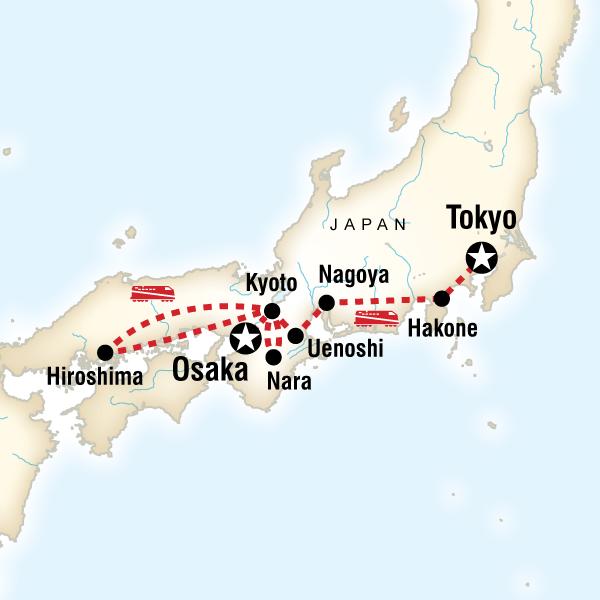 Abenteuerreise Route Japan Family Adventure
