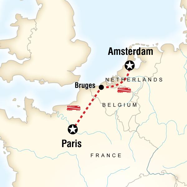 Abenteuerreise Route Paris to Amsterdam Family Adventure