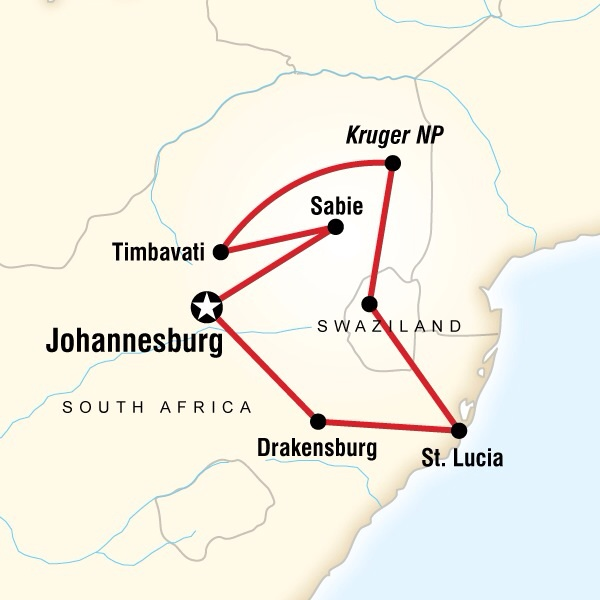 Abenteuerreise Route South African Family Adventure