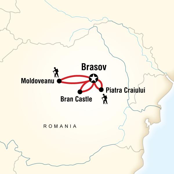 Abenteuerreise Route Trekking in Transylvania