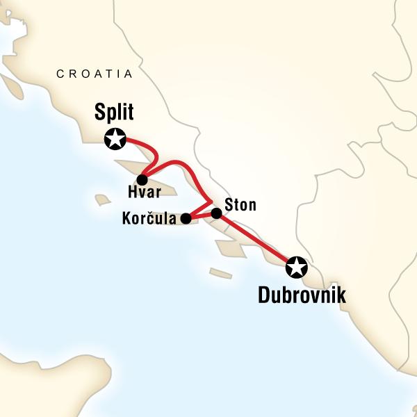 Abenteuerreise Route Cycle Croatia
