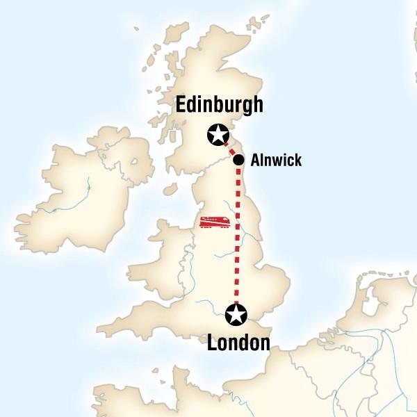 Abenteuerreise Route London to Edinburgh Family Adventure
