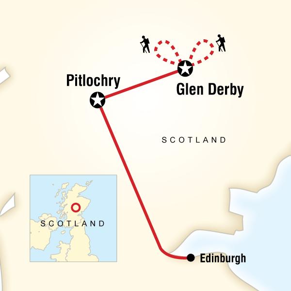 Abenteuerreise Route Scottish Highlands Adventure