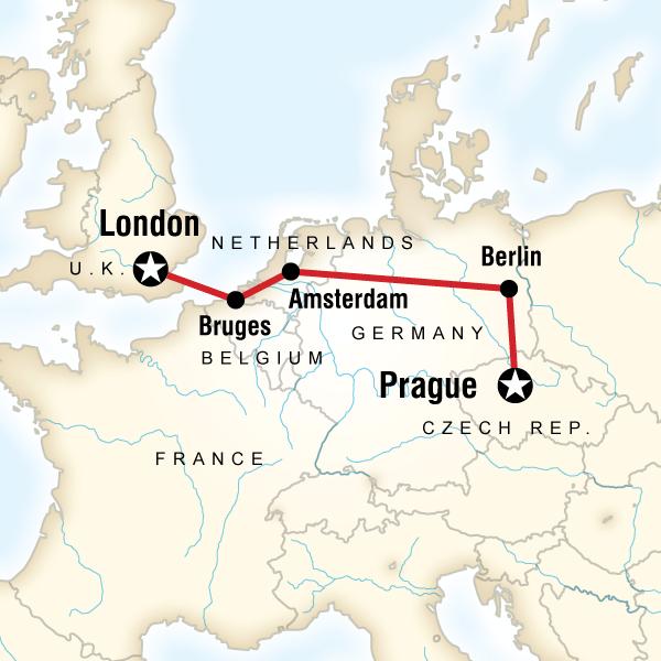 Abenteuerreise Route Prague to London Adventure