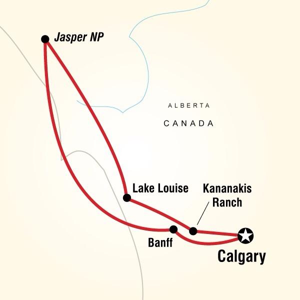 Abenteuerreise Route Canadian National Parks Family Adventure
