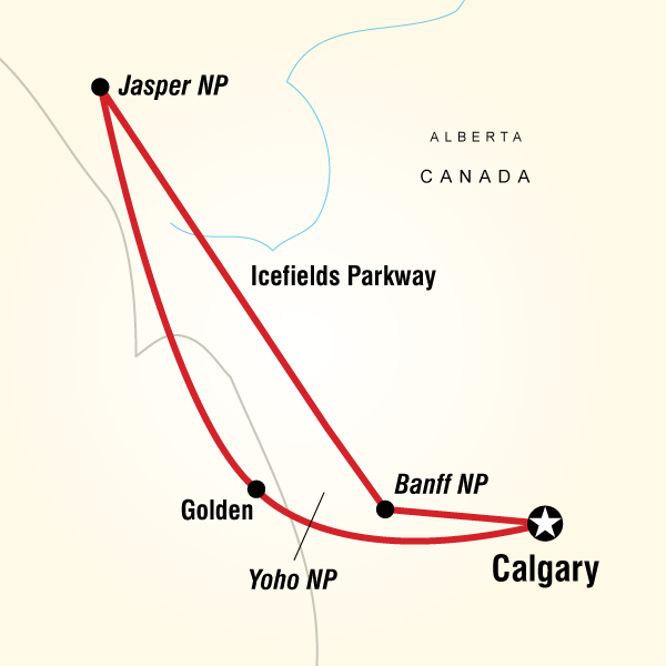Abenteuerreise Route Rockies Roundup