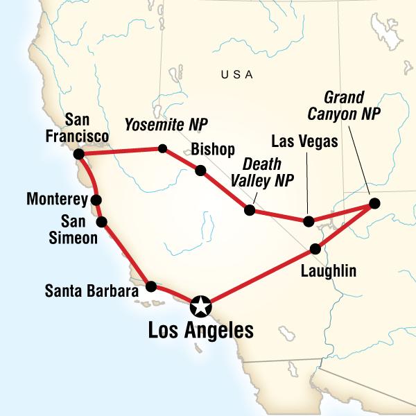 Abenteuerreise Route Western Express Loop