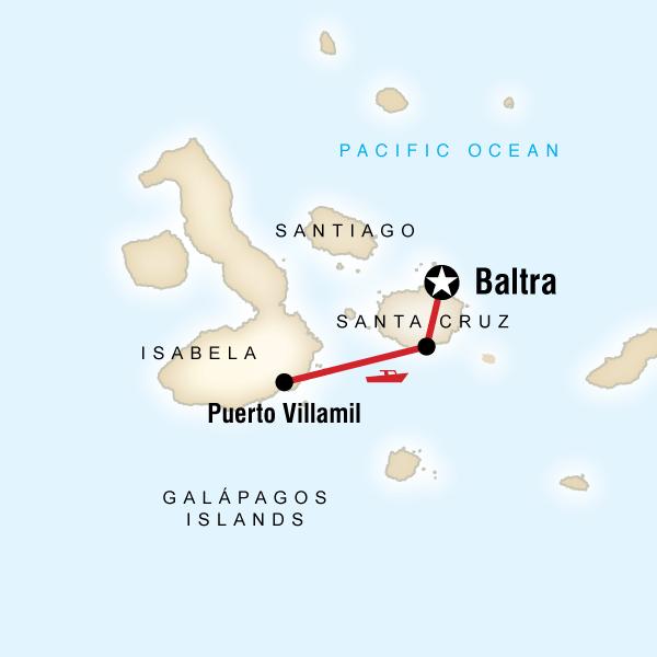 Abenteuerreise Route Galápagos Isabela Island Add-On