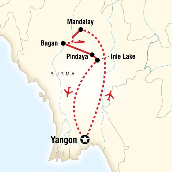 Abenteuerreise Route Burma Family Adventure