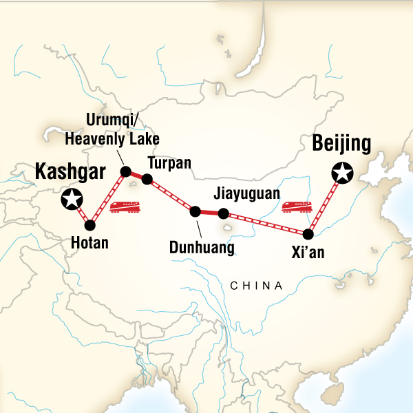 Abenteuerreise Route The Silk Road of China