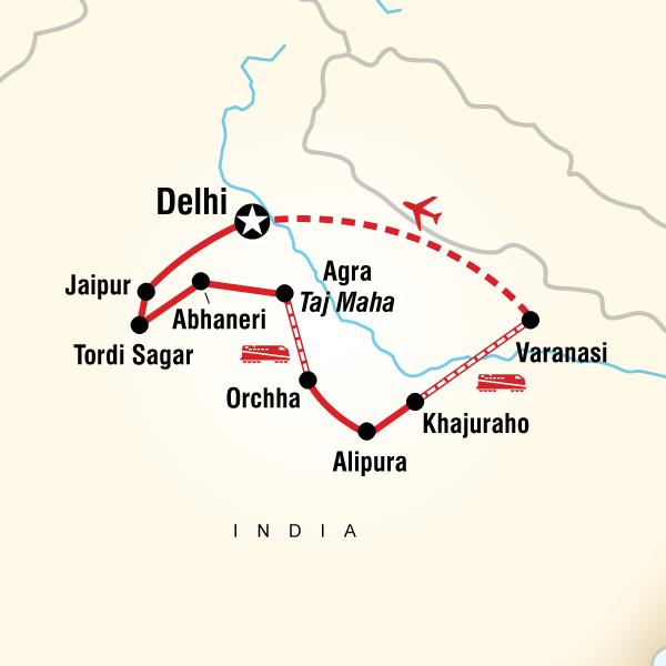 Abenteuerreise Route Essential India