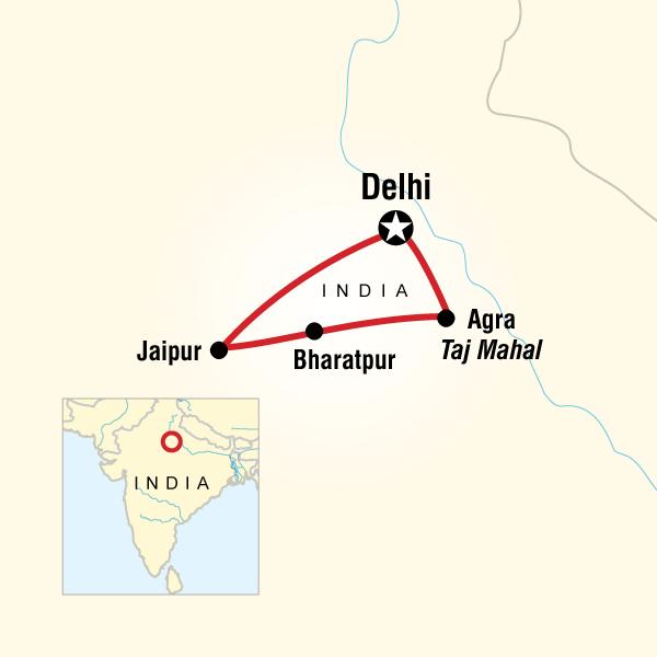 Abenteuerreise Route Golden Triangle