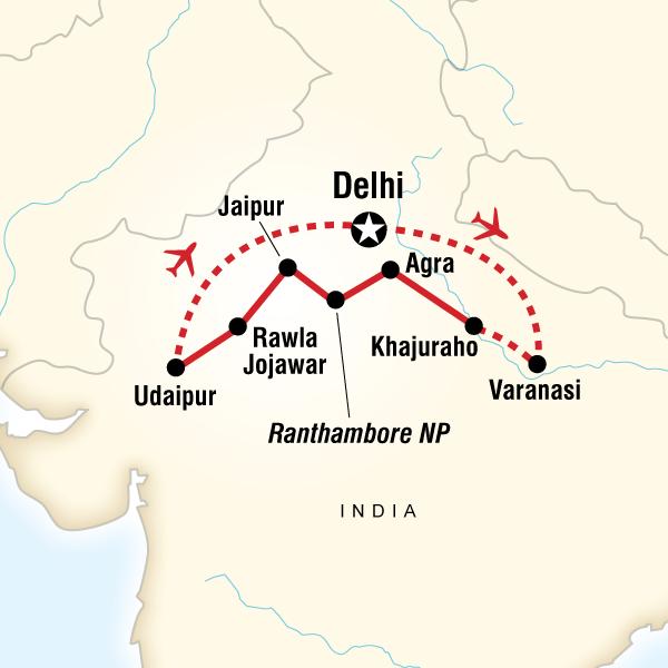 Abenteuerreise Route India Explorer