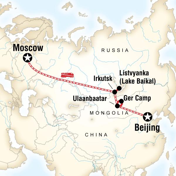 Abenteuerreise Route Trans-Mongolian Adventure