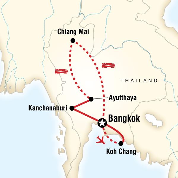 Abenteuerreise Route Thailand Family Adventure
