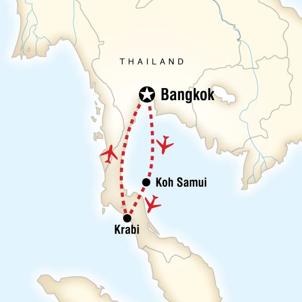 Abenteuerreise Route Southern Thai Delights
