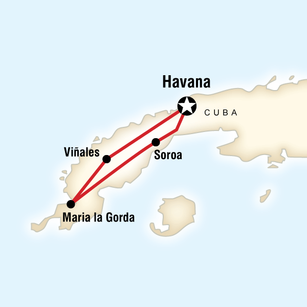 Abenteuerreise Route Cuba Libre