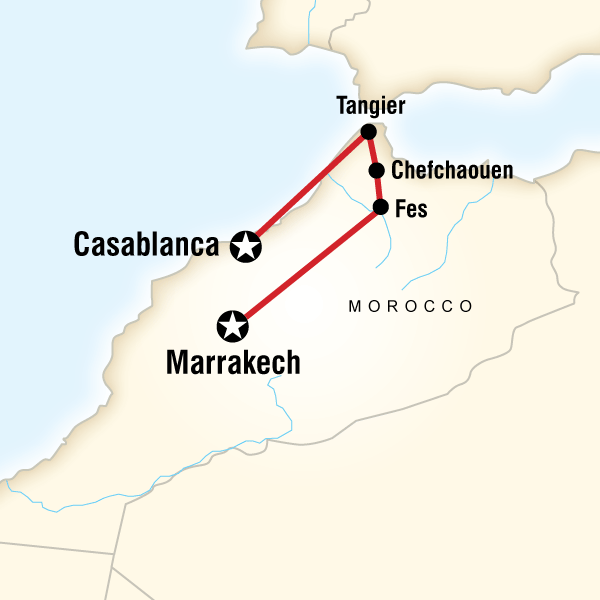 Abenteuerreise Route Northern Morocco on a Shoestring