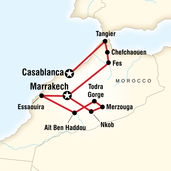 Abenteuerreise Route Morocco on a Shoestring