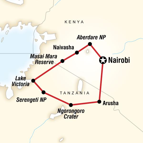 Abenteuerreise Route East Africa Lodge Safari