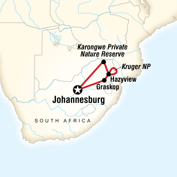 Abenteuerreise Route Kruger Encompassed
