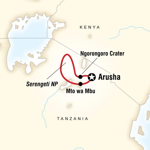 Abenteuerreise Route Tanzania Express Camping Adventure