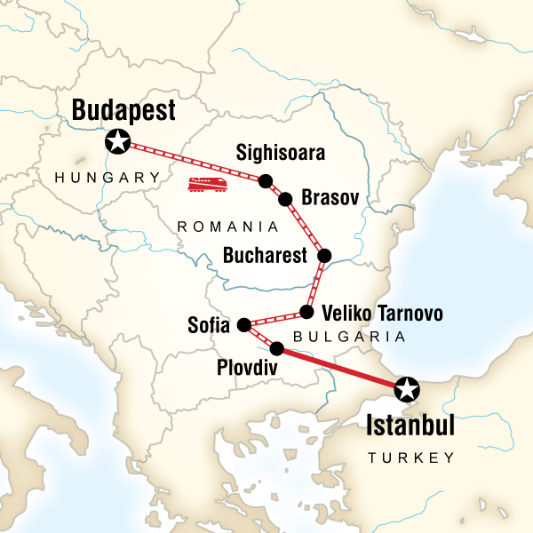 Abenteuerreise Route Budapest to Istanbul by Rail