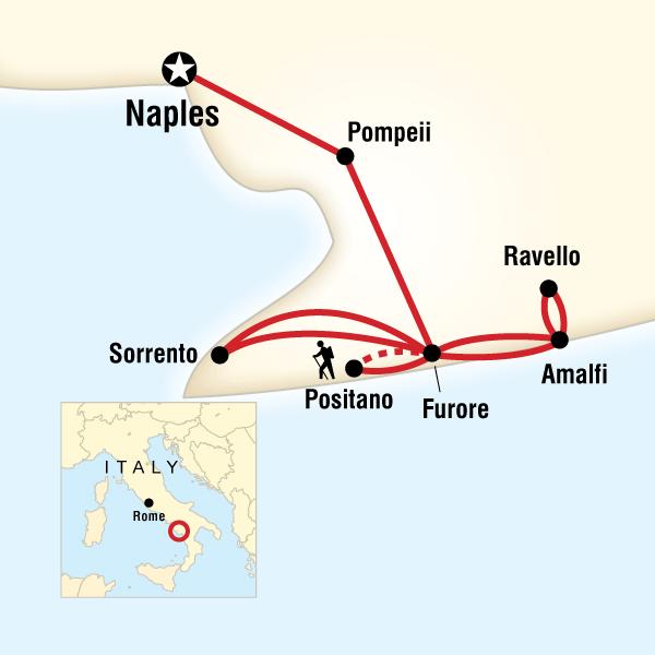 Abenteuerreise Route Local Living Italy—Amalfi Coast Winter