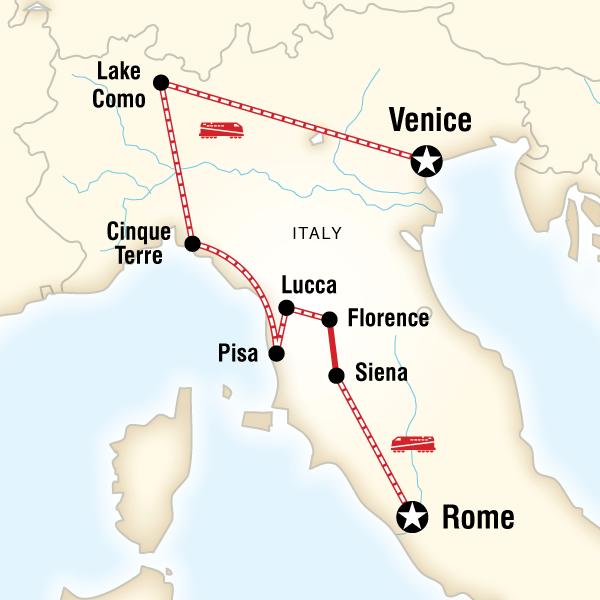 Abenteuerreise Route Ultimate Italy