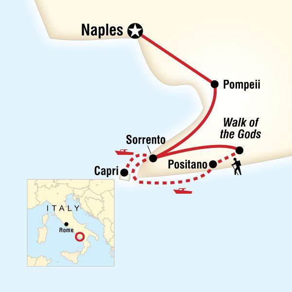 Abenteuerreise Route Local Living Italy—Sorrento