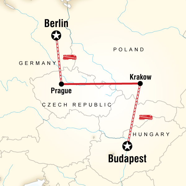 Abenteuerreise Route Budapest to Berlin on a Shoestring
