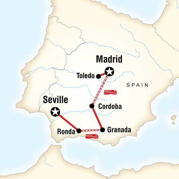Abenteuerreise Route Moorish Spain