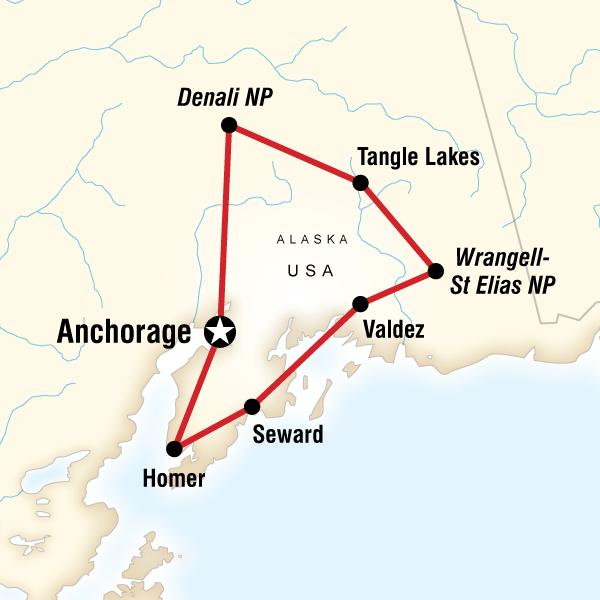 Abenteuerreise Route Highlights of Alaska