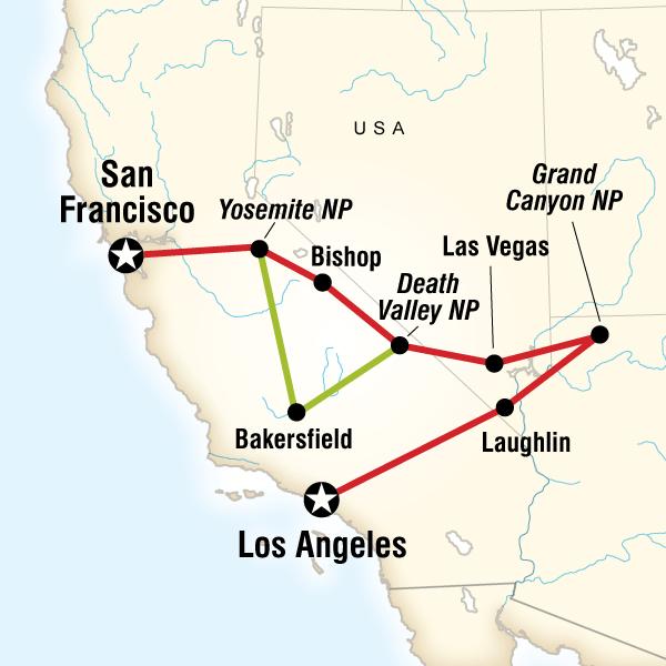 Abenteuerreise Route Western Express Southbound