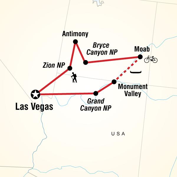 Abenteuerreise Route Western USA Family Experience