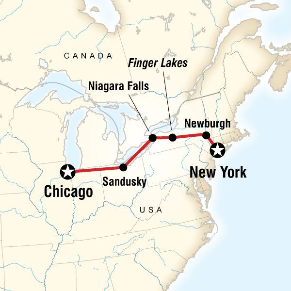 New York to Chicago Road Trip