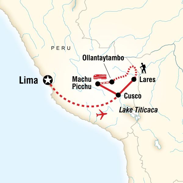 Abenteuerreise Route Inca Discovery—Lares