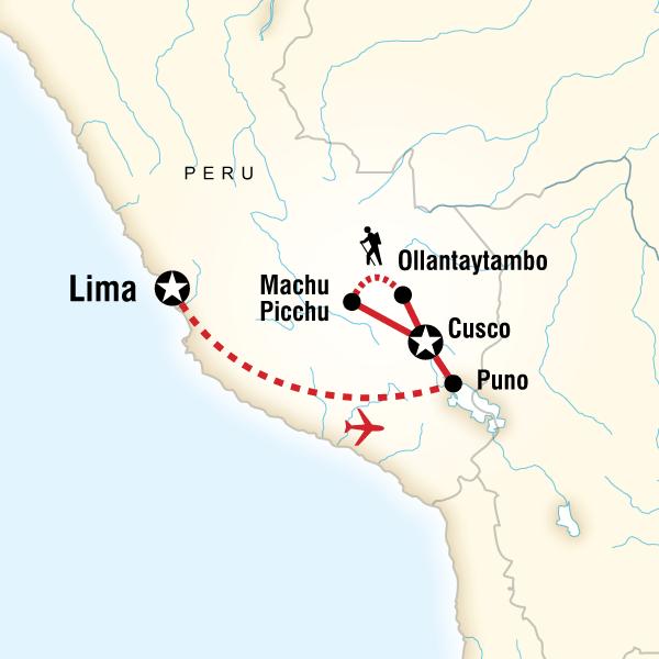 Abenteuerreise Route Classic Peru
