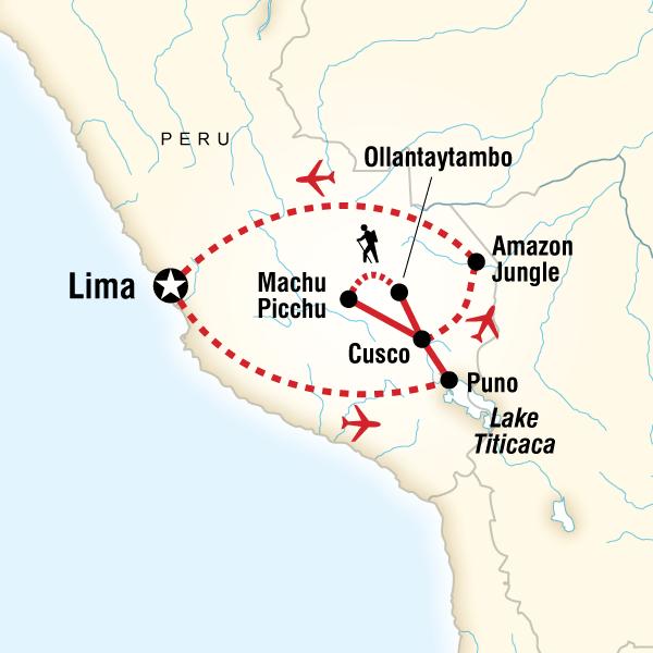 Abenteuerreise Route Peru Panorama