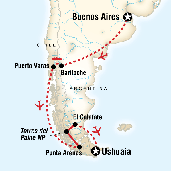 Abenteuerreise Route North & South Patagonia - Expedition Add-on